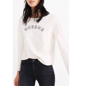 Madewell Queens Long Sleeve Tee boatneck size L